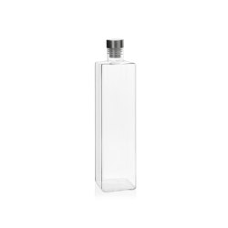 Bottles | Square Glass Blottle 8X8X33cm/1,5L. | Dinnerware | Andrea House