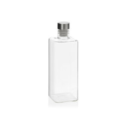 Bottles | Square Glass Bottle 8X8X24cm/1L. | Dinnerware | Andrea House