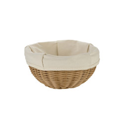 Bread Baskets | Rnd. Plaited Bread Basket Ø23X10 | Dining-table accessories | Andrea House