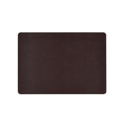Placemats | Brown Recl. Leat. Placemat | Table mats | Andrea House