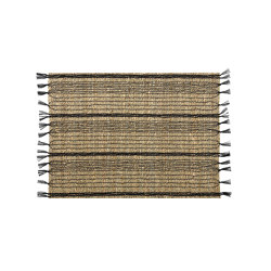 Placemats | Seagrass/Black Placemat 45X33cm | Table mats | Andrea House