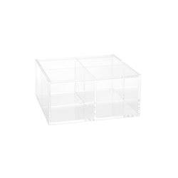 Cajas Infusiones-Café   Caja Infusiones Acril. 4C 15X15X7cm   Contenedores / Cajas   Andrea House