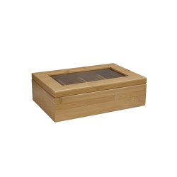 Tea and Coffee Boxes | Bamboo Coffee Capsule Box 30X20X9cm | Storage boxes | Andrea House