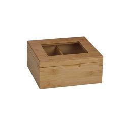 Tea and Coffee Boxes | Bamboo Tea Box 4P 20X18X9 | Behälter / Boxen | Andrea House