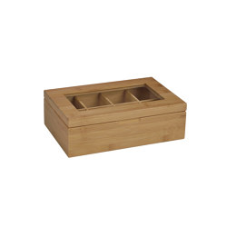 Tea and Coffee Boxes | Bamboo Tea Box 8P 29X19X9 | Storage boxes | Andrea House