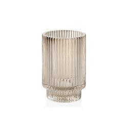Complementos Decoración | Tea Light Vidrio Beige Ø8,5X13 cm | Candelabros | Andrea House