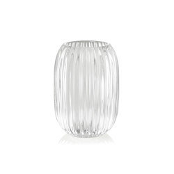 Decoration Complemens | Transparent T. Light Glass Ø9,5X13 | Candlesticks / Candleholder | Andrea House