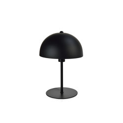 Lighting | Black Metal Umbrella Lamp Ø20X30 cm | Table lights | Andrea House