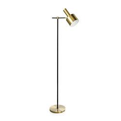Lighting   Lampe Pied Laiton/Noir 37,5X23X150   Luminaires sur pied   Andrea House