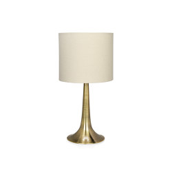 Lighting | Clarinet Brass Lamp Ø23X45cm | Table lights | Andrea House