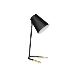 Lighting | Majestic Brass/Bl. Lamp 16,5X20X50cm | Table lights | Andrea House