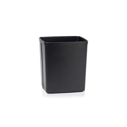 Paper Bins | Black Leather Eff. Paper Bin25X22X29 | Waste baskets | Andrea House