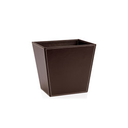 Paper Bins | Brown Leather Eff. Waste Bin28X23X27 | Waste baskets | Andrea House