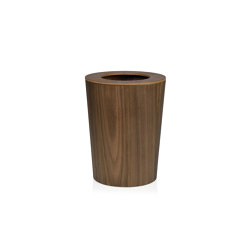 Paper Bins | Cestino Legno Noce Ø23,5X30,5cm | Pattumiere | Andrea House