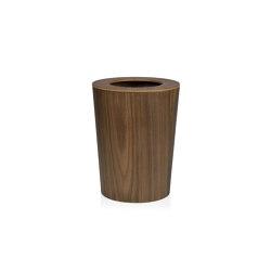 Papeleras | Papelera Madera Nogal Ø23,5X30,5cm | Cubos basura / Papeleras | Andrea House