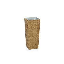 Planters | Jardinière Seagrass/Met 25X25X62 cm | Pots de fleurs | Andrea House