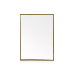 Wall Mirrors | Oak Eff.ect Mirror 60X80cm | Mirrors | Andrea House