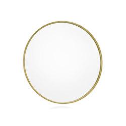 Wall Mirrors | Rdo. Brass Metal Wall Mirror Ø50 | Mirrors | Andrea House
