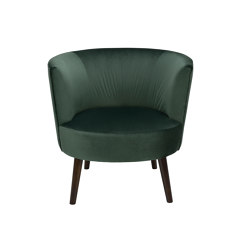 Chairs and Sofas | Green Velvet Edie Armchair 78X75X77cm | Sessel | Andrea House