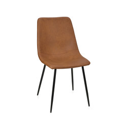 Chairs and Stools | Camel Leather Eff. Chair 43X55X81 | Chairs | Andrea House