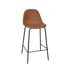 Chairs and Stools | Camel Leather Eff. Stool44X42X95 | Bar stools | Andrea House