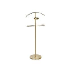 Suit Racks | Ant. Golden Metal Suit Rack 45X28X110 | Clothes racks | Andrea House