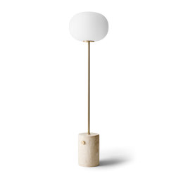 JWDA Floor Lamp | Travertine | Brushed Brass | Free-standing lights | MENU