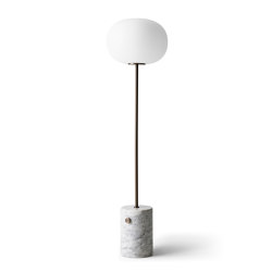 JWDA Floor Lamp | White Marble | Bronzed Brass | Free-standing lights | MENU