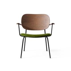 Co Lounge Chair   Black Base   Dark Stained Oak   City Velvet CA7832   031   Stühle   MENU