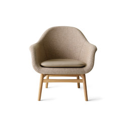 Harbour Lounge Chair | Natural Oak Base | Savanna 222 | Nuance 40782 | Armchairs | MENU