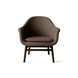 Harbour Lounge Chair | Dark Stained Oak Base | Savanna 262 | Nuance 40783 | Armchairs | MENU
