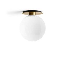 TR Bulb | Ceiling Lamp | Brushed Brass | Shiny Opal Bulb | Plafonniers | MENU