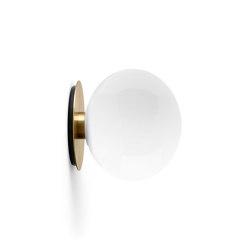 TR Bulb | Wall Lamp | Brushed Brass | Shiny Opal Bulb | Appliques murales | MENU