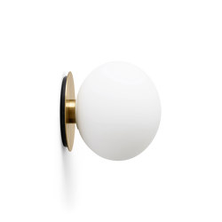 TR Bulb | Wall Lamp | Brushed Brass | Matt Opal Bulb | Wall lights | MENU