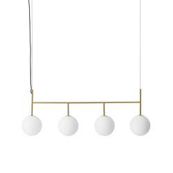 TR Bulb | Suspension Frame | Brushed Brass | Matt Opal Bulb | Suspended lights | MENU