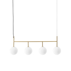 TR Bulb | Suspension Frame | Brushed Brass | Shiny Opal Bulb | Lámparas de suspensión | MENU