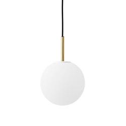 TR Bulb | Pendant | Brushed Brass | Matt Opal Bulb | Suspended lights | MENU