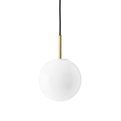 TR Bulb | Pendant | Brushed Brass | DtW Shiny Opal Bulb | Suspended lights | MENU