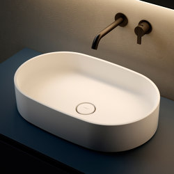 Giro 55 Solidsurface top mounted Washbasin | Lavabos | Inbani
