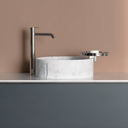 Giro 39 Marble top mounted Washbasin | Lavabos | Inbani