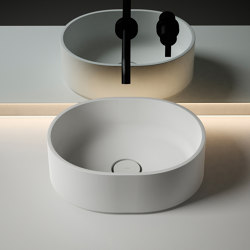 Giro 37 Solidsurface top mounted Washbasin | Lavabos | Inbani