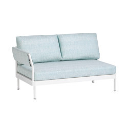 Minu 2-Seater Element with back- and armrest left | Sofas | Weishäupl