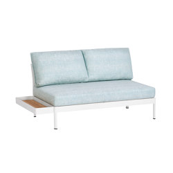 Minu 2-Seater Element with Backrest and Clip-On Table | Sofas | Weishäupl
