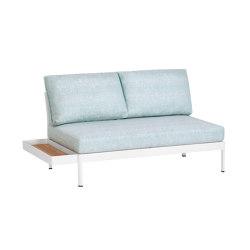 Minu 2-Sitzer Element mit Rückenlehne und Clip-On Tisch | Sofas | Weishäupl