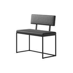 London Bench B008 small with cushion and backrest | Bancos | BoConcept