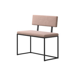 London Bench B008 small with cushion and backrest | Benches | BoConcept