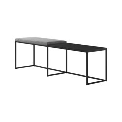 London Bench B009 large with cushion and shelf | Benches | BoConcept