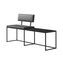 London Bench B010 large with cushion, shelf and backrest | Benches | BoConcept