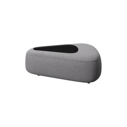 Ottawa Sofa Pouf 0210 triangular with tray | Pufs | BoConcept