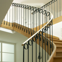 Stair Railing | Muro | Rampes d'escalier / Balustrades | Bergmeister Kunstschmiede